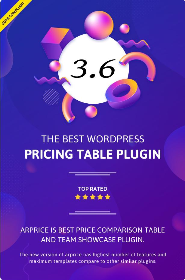 ARPrice - WordPress Pricing Table Plugin - 5