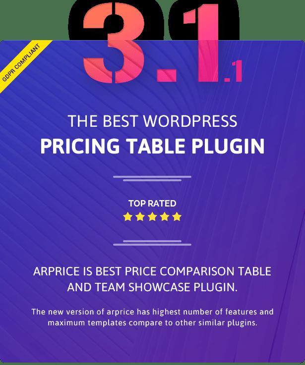 ARPrice - Responsive WordPress Pricing Table Plugin - 5